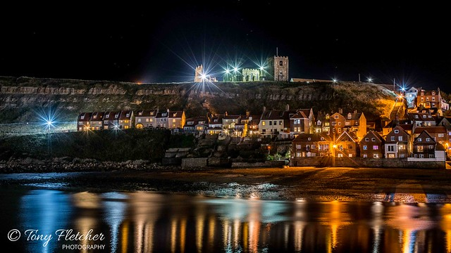 'WHITBY AT NIGHT'