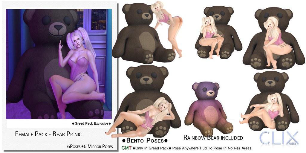 Clix Female Bear Picnic Ad