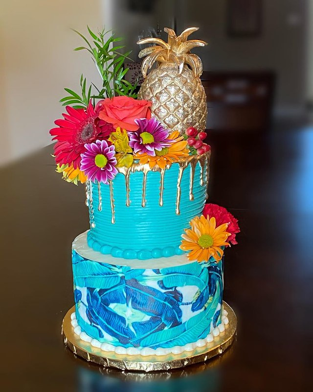 Tropical Theme Cake by Sugar Alley Pastries