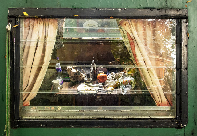 Little Venice, still life through a barge window