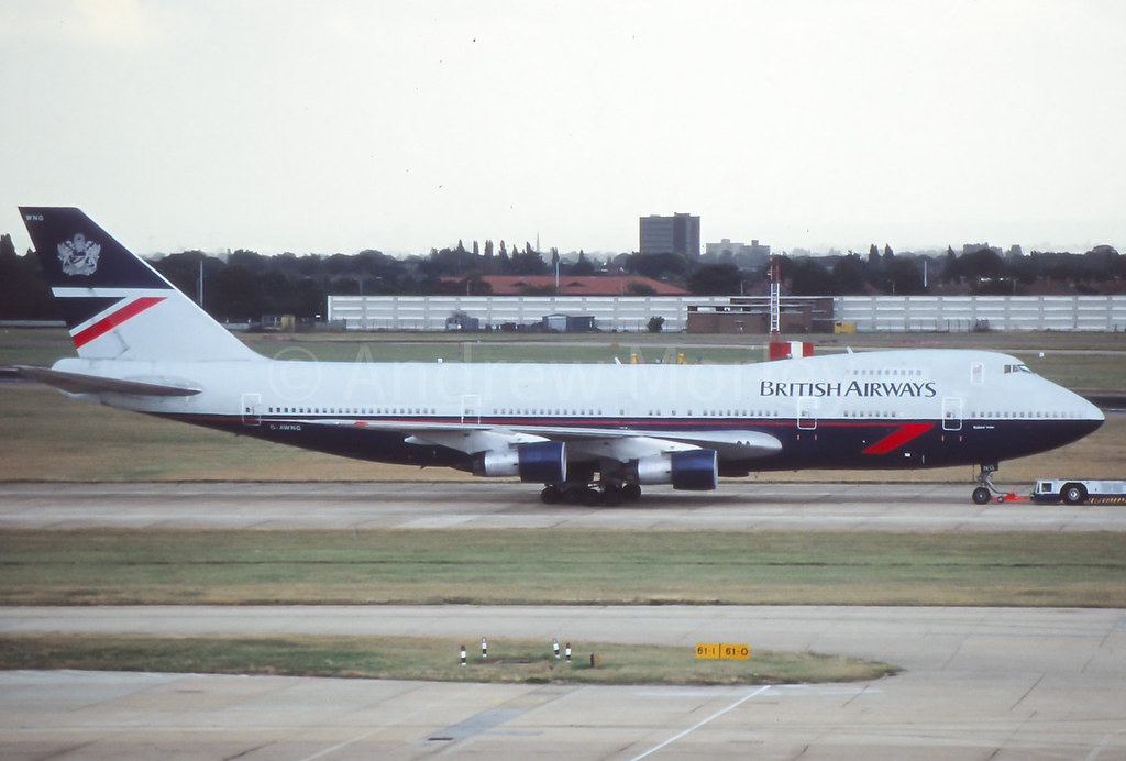 G-AWNG Boeing 747-136 at LHR on 5th October 1991