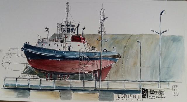 Lorient  Quai du Pourquoi Pas. Face à l'aire de réparation navale.