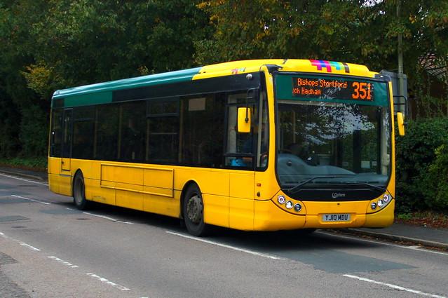Yellow Perils: Trustybus (ex Yellow Buses 106) Optare Tempo X1200 YJ10MDU Hadham Road Bishops Stortford 09/10/20