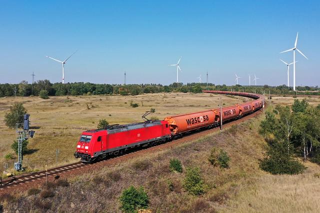 DB 185 295 + Wascosa goederentrein/Güterzug/freight train   - Genshagener Heide