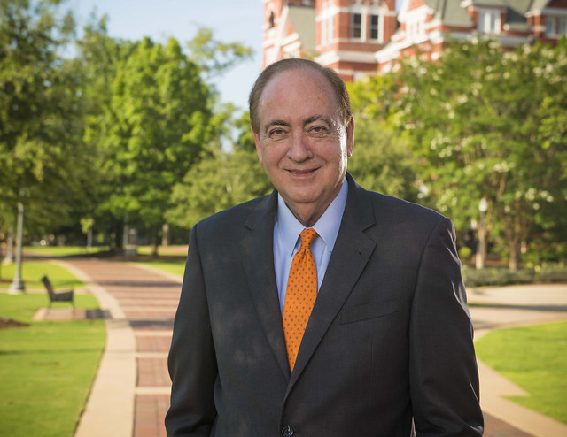 Auburn President Jay Gogue is pictured outdoors