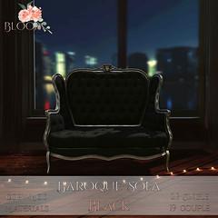 Bloom! - Baroque Sofa Black PG AD