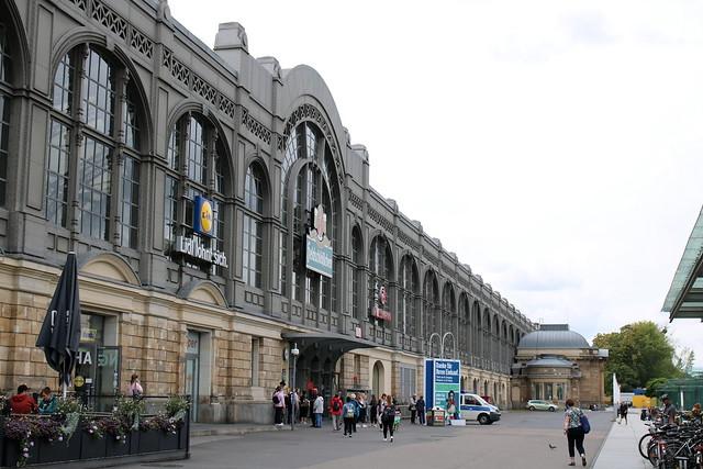 DB: Dresden Hauptbahnhof - Nordhalle mit Königspavillon