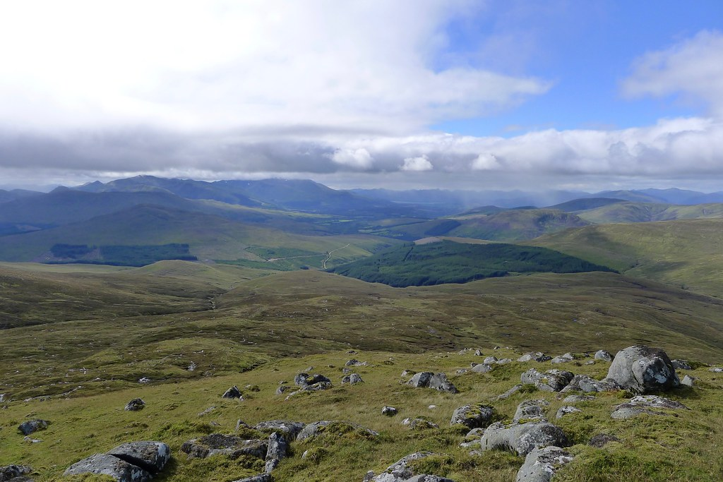 Lochaber from Beinn Teallach