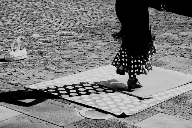flamenco dancer & polka dots ... dots
