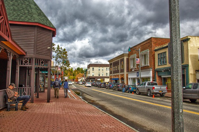 Lake Placid New York - Downtown - Main Street -