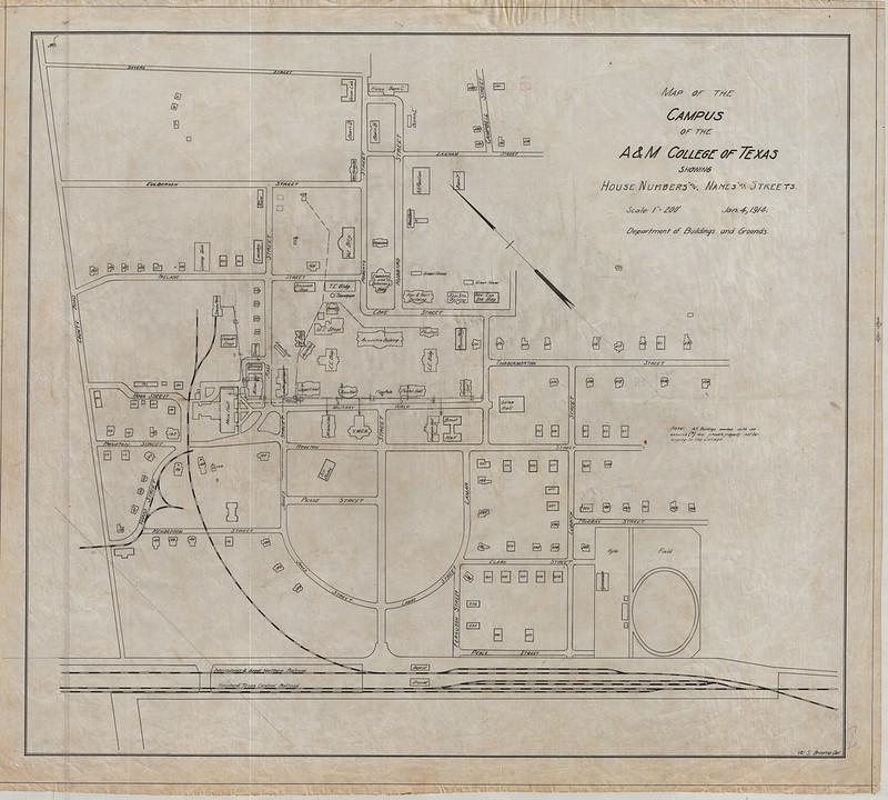 1920 map of the A&M campus