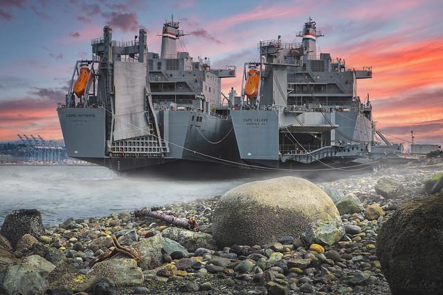 SS Cape Intrepid and SS Cape Island sunrise 2020