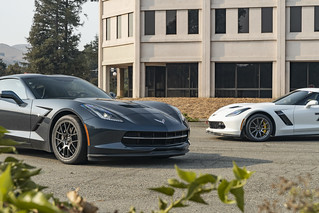 "C7 Stingray & Z06 Corvettes Together with 18"" SM-10 and EC-7 wheels in Anthracite 