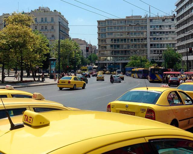 Taxis en Grecia