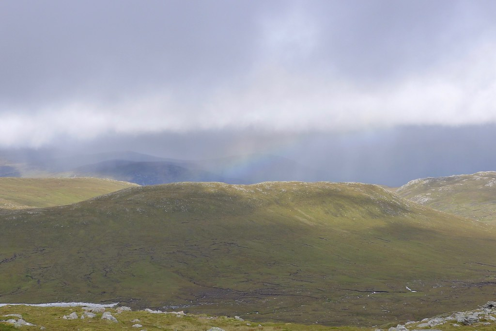 Rainbow beyond Creag Tharsuinn