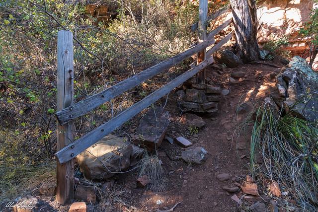 Old stairway to Oak Creek