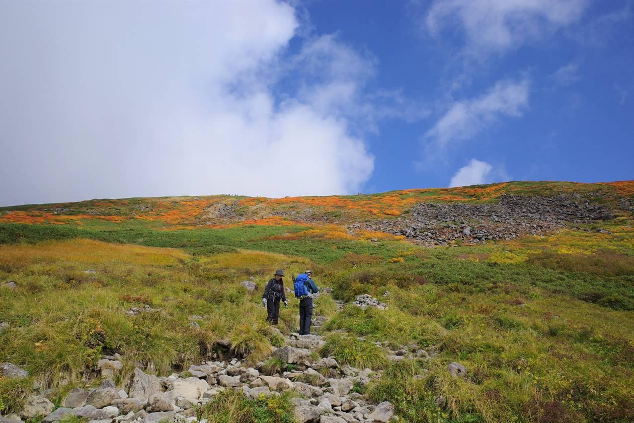月山 紅葉の登山道