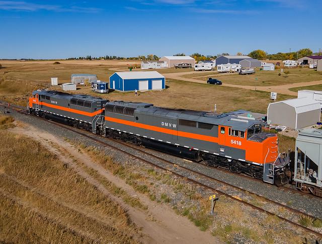 Dakota Missouri Valley & Western DMVW 5418 (SD50F) Garrison, North Dakota
