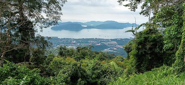 Gunung Raya view of nearby islands