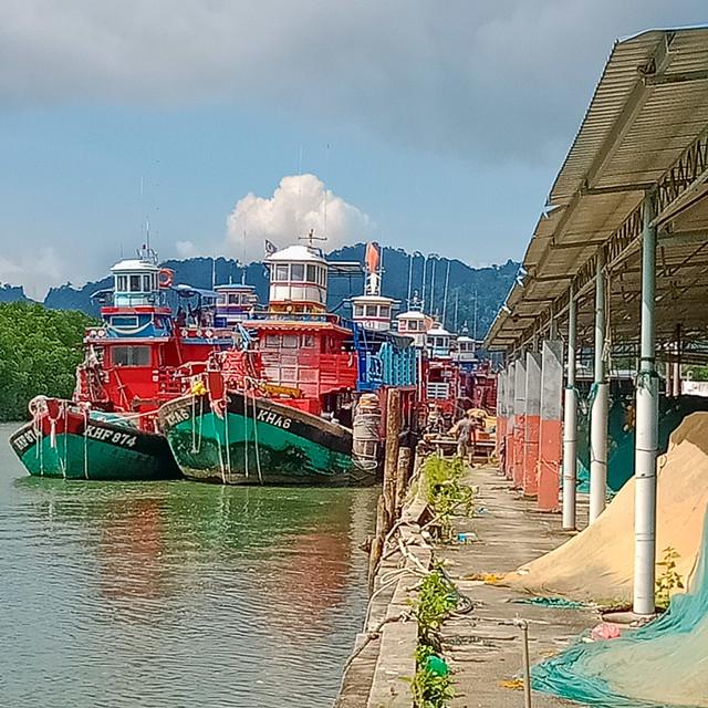 Trawlers docked at Taman Nilam