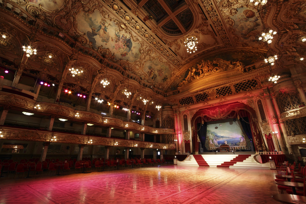 The beautiful Blackpool Tower Ballroom in England [OC][5184x3456]