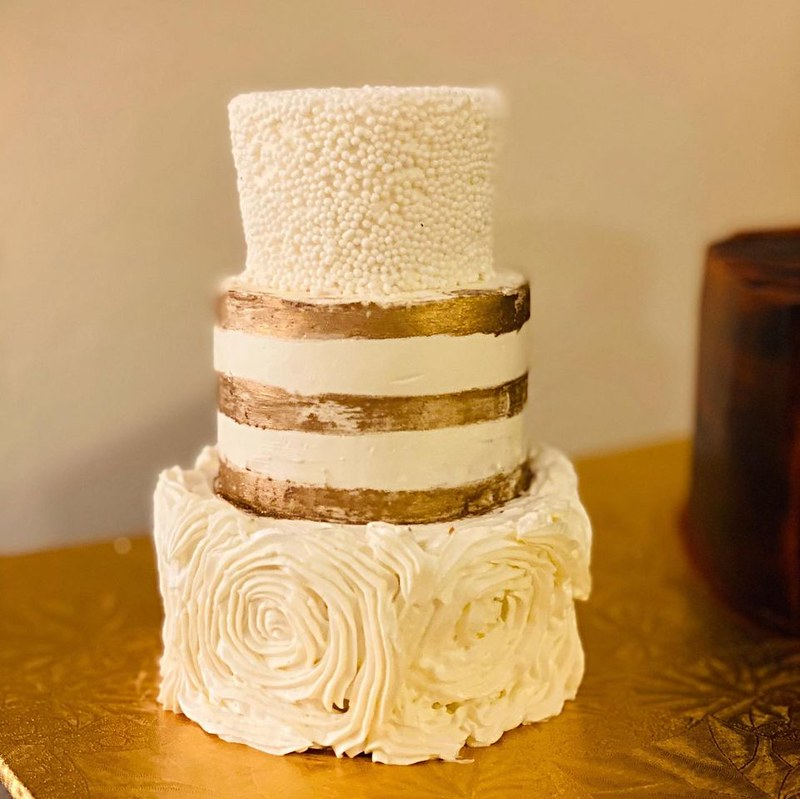 Mini Bride's Cake by Totally Baked Bakery
