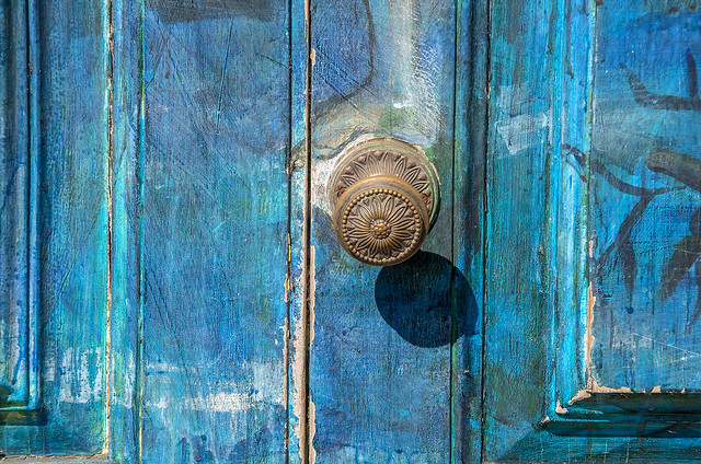 Blue door in Funchal,Madeira
