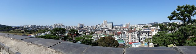 Suwon skyline from Hwaseong Fortress