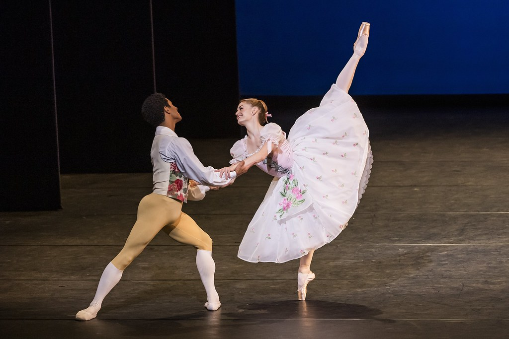 Marcelino Sambe and Anna Rose O'Sullivan in The Royal Ballet: Back on Stage © 2020 ROH. Photograph by Tristram Kenton