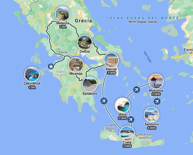 Ruta por Grecia en 18 días