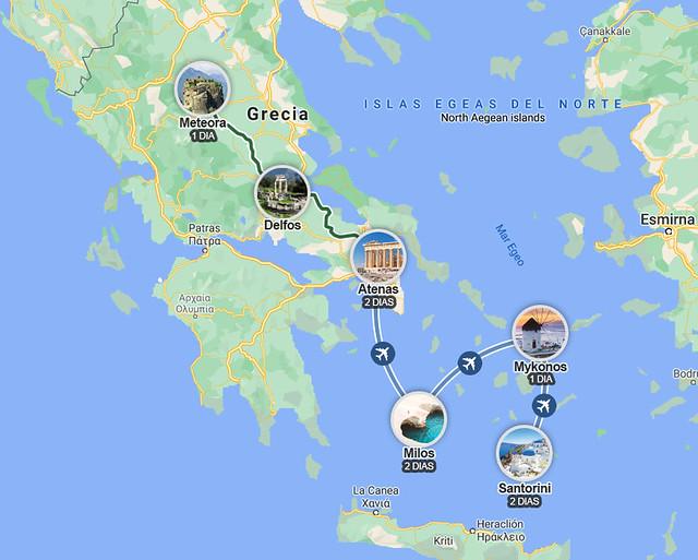 Ruta de 10 días por Grecia en coche
