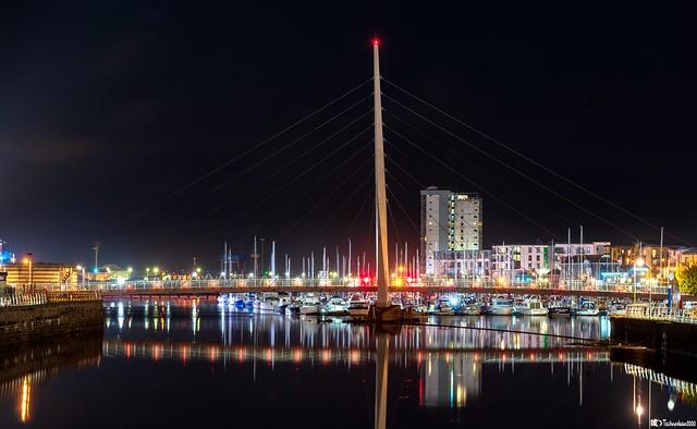 Swansea City sail bridge