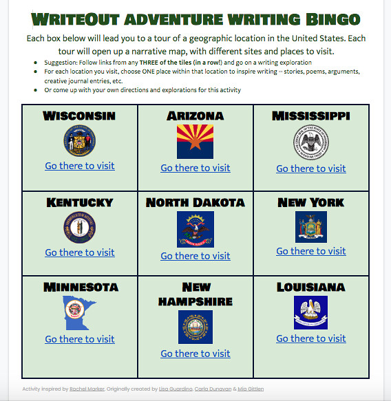 Writing Marathon BINGO