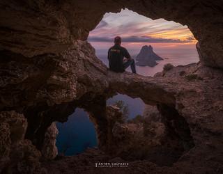 Un atardecer en lo alto , Es Vedra , Ibiza ...