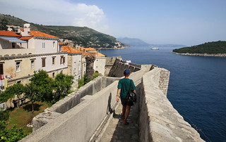 Kanitha walking on the 2km long defensive walls of Dubrovnik | by B℮n