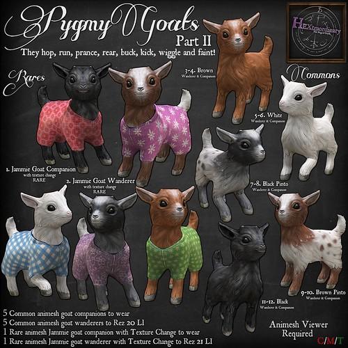 HEXtraordinary - Pygmy goats II for Gotta Getcha Gacha , 25L