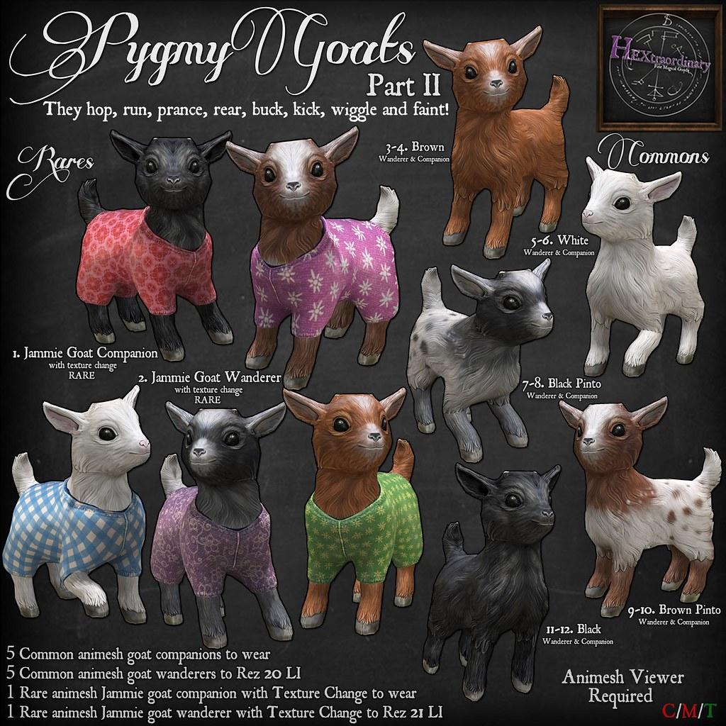 HEXtraordinary – Pygmy goats II for Gotta Getcha Gacha , 25L