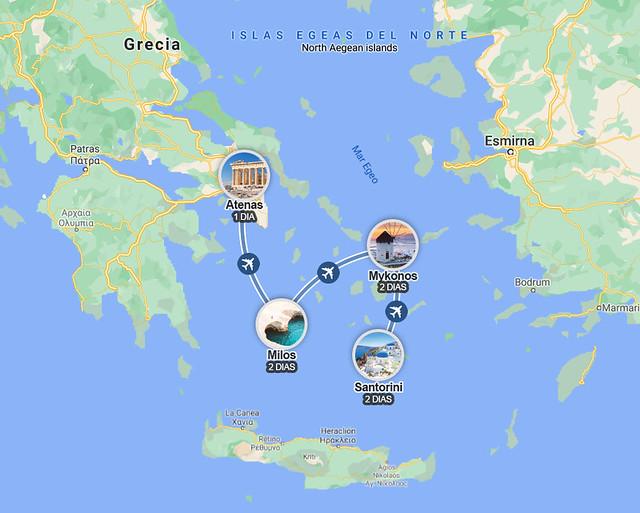 Ruta de 7 días por Atenas y las Cicladas