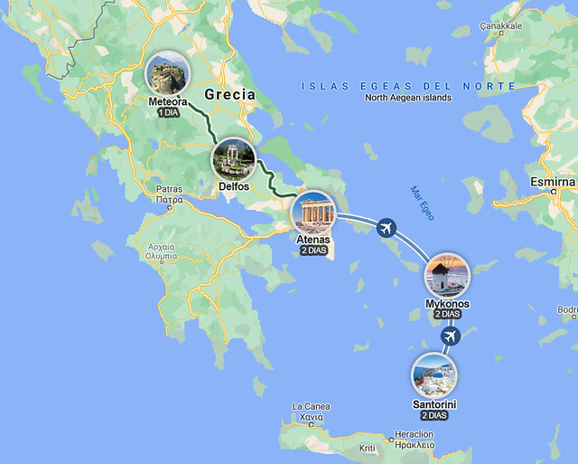 Ruta de una semana por Grecia