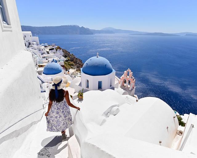 Las cúpulas azules de Oia