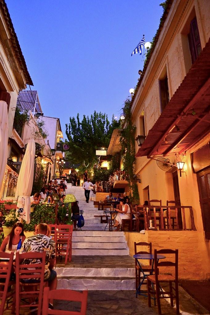 Barrio de Plaka en Atenas