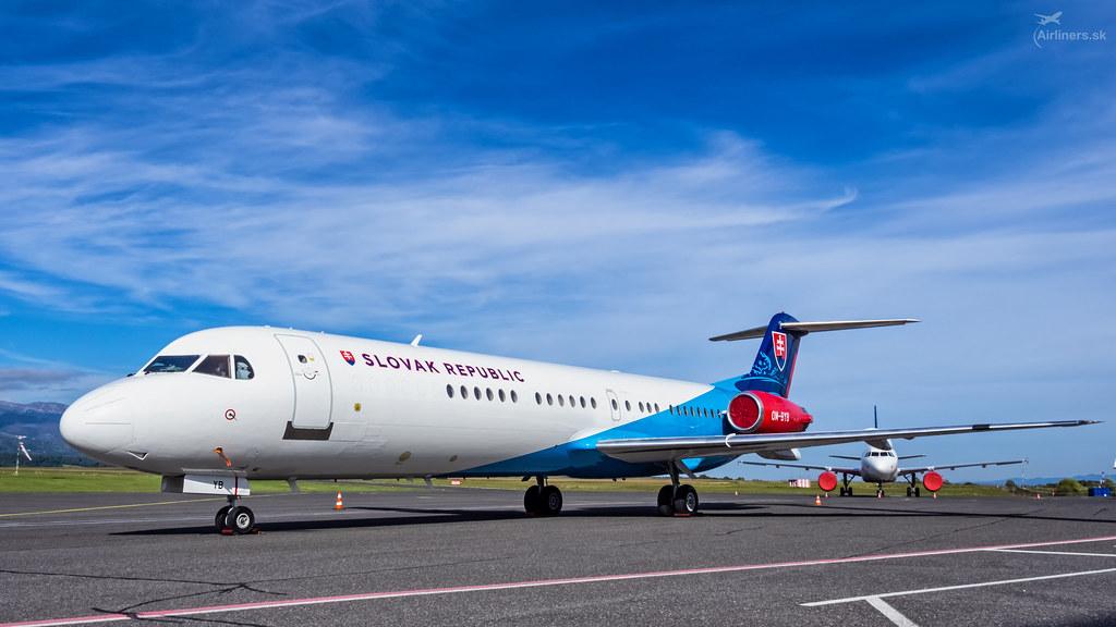 OM-BYB Slovak Government Flight Service Fokker F100