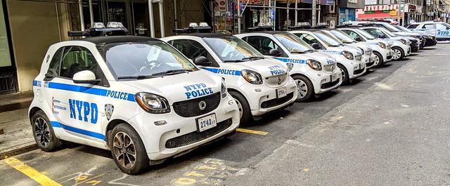 Tiny cop cars...