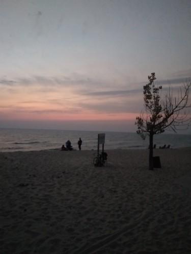 lakemichigan michigan usa october sunset beach