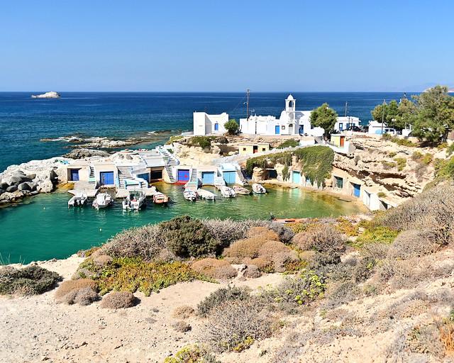 Mandrika en la isla de Milos