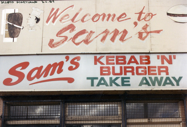 Sam's, Takeaway, Leytonstone Rd, Maryland, Newham, 1989TQ3985-002