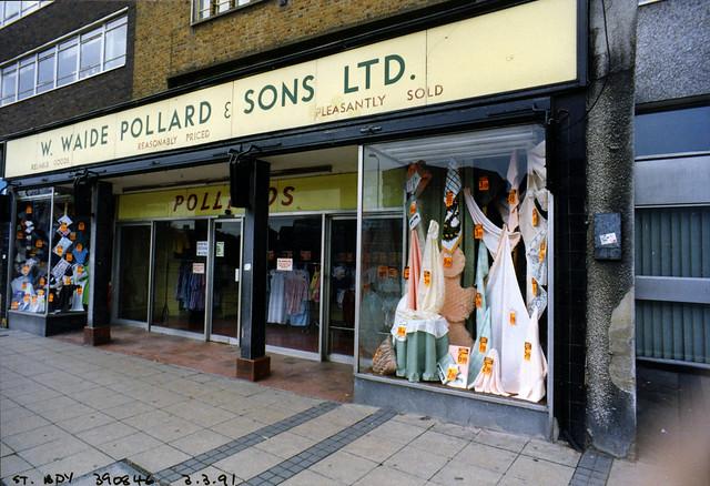Pollards, Stratford Broadway, Stratford, Newham, 1991 TQ3984-009