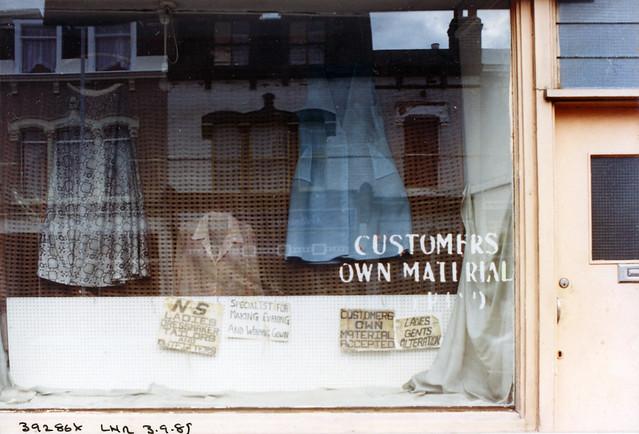 Dressmakers, High Rd, Leytonstone, Waltham Forest, 1989 TQ3986-005