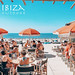 Vintage Ibiza parasol met stip