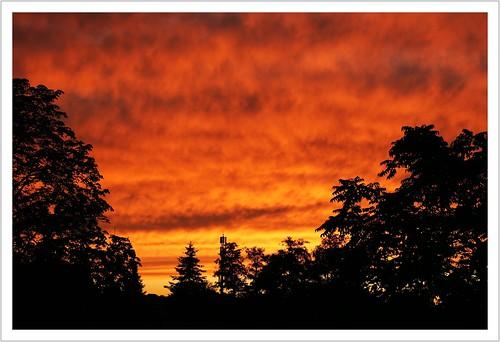 saxony sachsen pirna sonnenuntergang sunset himmel abendlicht abendrot wolken clouds